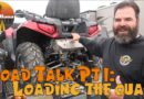 RVing Alaska: Toad Vehicle Talk ~ Loading the ATV and hooking up our truck to the Motorhome