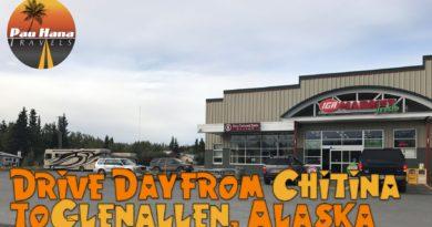 RVing Alaska: Drive from Chitina to Glenallen & FREE overnight parking in Glenallen 🚐🏔