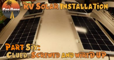 RV Solar Installation – Part 6: Installing and Wiring up the Solar Panels  🚐🌞